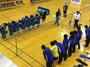 第45回記念全国高等学校選抜バドミントン大会 トレーナー帯同